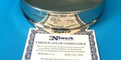 Test Sieves Certificate