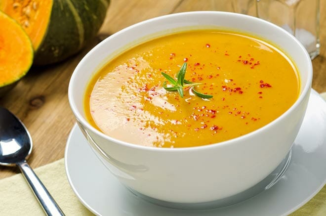 Squash Soup with Rosemary and Paprika