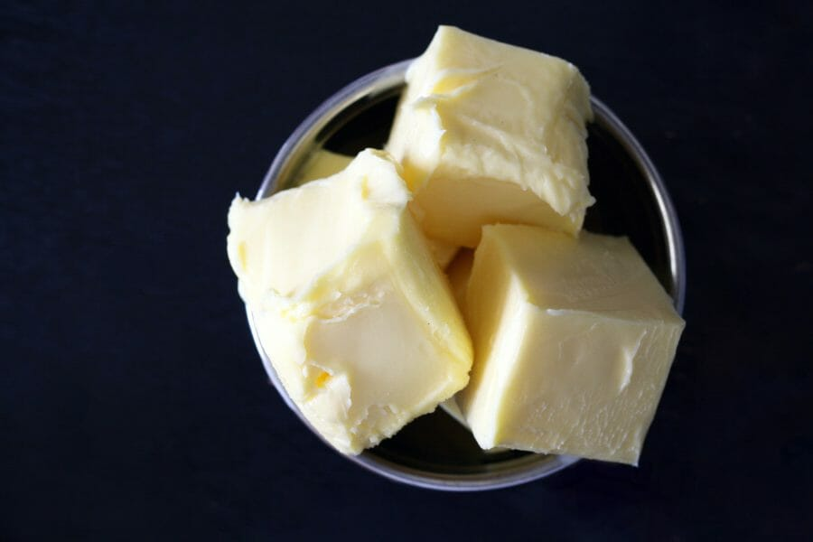 How to strain butter