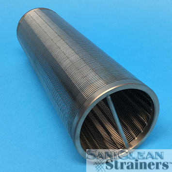 Saniwedge wedge wire elements side nlet strainers